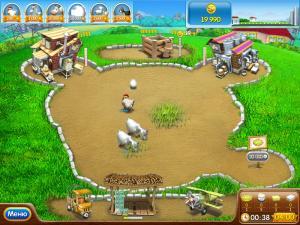 Скриншот из игры Веселая ферма. Печем пиццу.