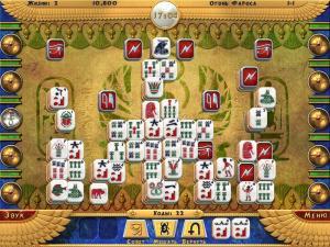 Скриншот из игры Луксор Маджонг