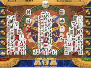 Скриншот №1 из игры Луксор Маджонг