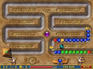 Скриншот из игры Луксор