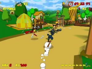 Скриншот из игры Страусиные бега